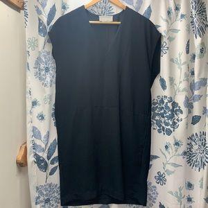 Everlane Black Japanese Goweave Cocoon Dress- 2